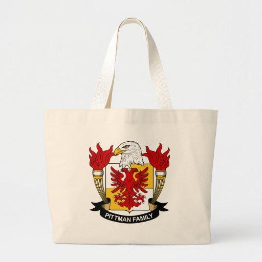 Escudo de armas de Pittman/escudo de la familia Bolsa Tela Grande