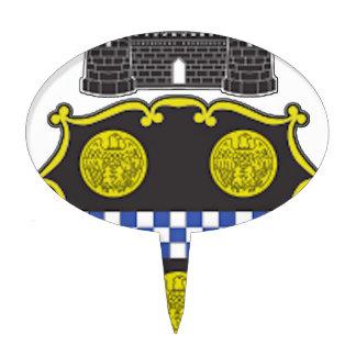 Escudo de armas de Pittsburgh Figura Para Tarta