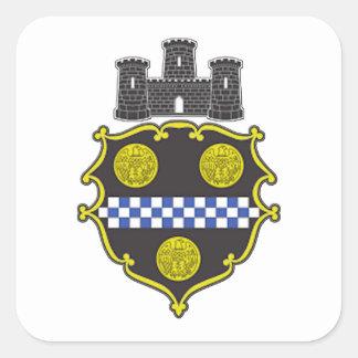 Escudo de armas de Pittsburgh Calcomania Cuadradas Personalizadas