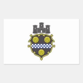 Escudo de armas de Pittsburgh Rectangular Pegatinas
