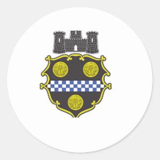 Escudo de armas de Pittsburgh Pegatina Redonda