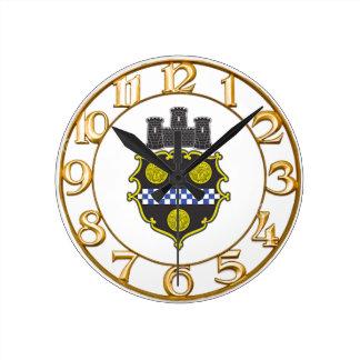 Escudo de armas de Pittsburgh Reloj Redondo Mediano