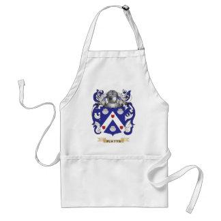 Escudo de armas de Platts escudo de la familia Delantal