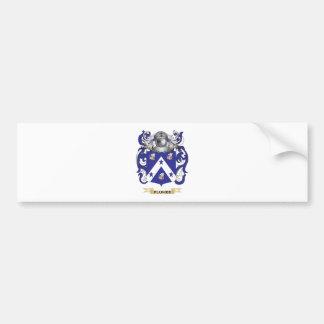 Escudo de armas de Plumer (escudo de la familia) Pegatina De Parachoque