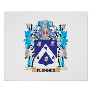 Escudo de armas de Plummer - escudo de la familia Póster
