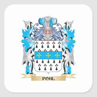 Escudo de armas de Pohl - escudo de la familia Pegatina Cuadrada