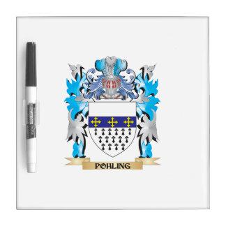 Escudo de armas de Pohling - escudo de la familia Pizarras Blancas De Calidad