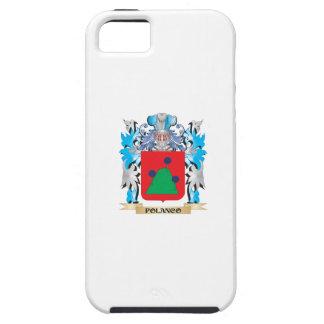 Escudo de armas de Polanco - escudo de la familia iPhone 5 Case-Mate Protector