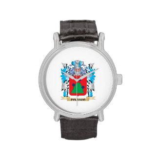 Escudo de armas de Polanco - escudo de la familia Reloj De Mano