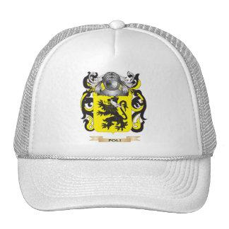Escudo de armas de Poli (escudo de la familia) Gorro De Camionero