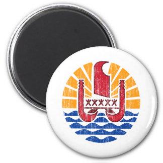 Escudo de armas de Polinesia francesa Imán Redondo 5 Cm