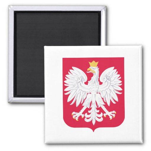 Escudo de armas de Polonia Imán Cuadrado