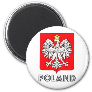 Escudo de armas de Polonia Imán Redondo 5 Cm