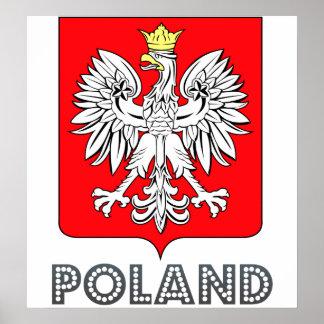 Escudo de armas de Polonia Poster