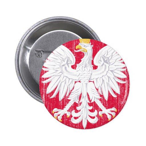 Escudo de armas de Polonia Pin Redondo 5 Cm