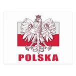 Escudo de armas de Polonia Polska Postales