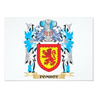 """Escudo de armas de Pomroy - escudo de la familia Invitación 5"""" X 7"""""""