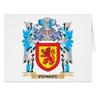 Escudo de armas de Pomroy - escudo de la familia Tarjeta De Felicitación Grande