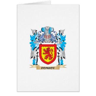 Escudo de armas de Pomroy - escudo de la familia Tarjeta De Felicitación