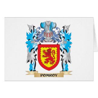 Escudo de armas de Pomroy - escudo de la familia Tarjeta Pequeña
