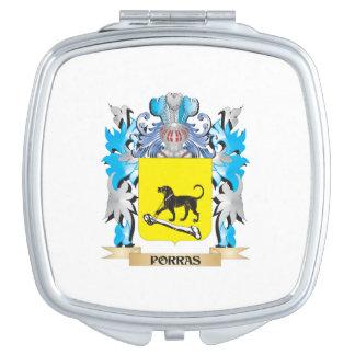 Escudo de armas de Porras - escudo de la familia Espejo Maquillaje