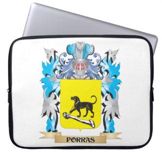 Escudo de armas de Porras - escudo de la familia Funda Computadora