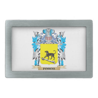 Escudo de armas de Porras - escudo de la familia Hebilla Cinturon Rectangular