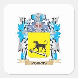 Escudo de armas de Porras - escudo de la familia Colcomanias Cuadradas