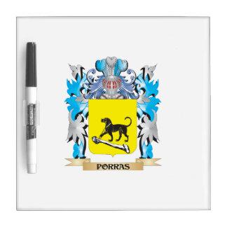 Escudo de armas de Porras - escudo de la familia Tablero Blanco