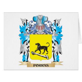 Escudo de armas de Porras - escudo de la familia Tarjetas