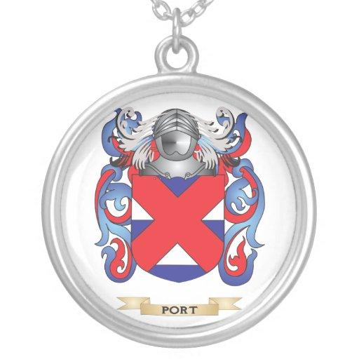 Escudo de armas de Portail (escudo de la familia) Colgante Redondo