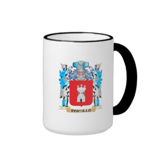 Escudo de armas de Portillo - escudo de la familia Taza A Dos Colores