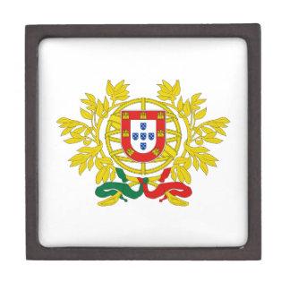 Escudo de armas de Portugal Caja De Joyas De Calidad