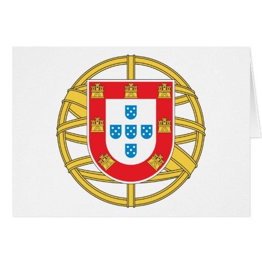 Escudo de armas de Portugal Felicitaciones