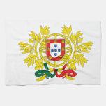 Escudo de armas de Portugal Toalla De Cocina