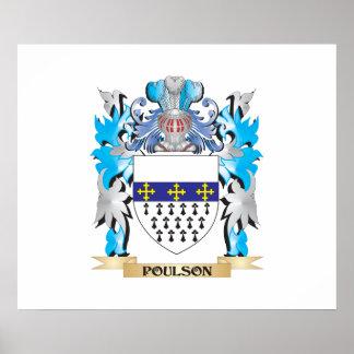 Escudo de armas de Poulson - escudo de la familia Poster