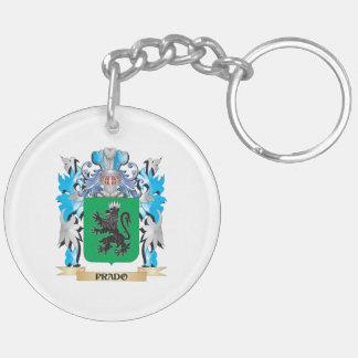 Escudo de armas de Prado - escudo de la familia Llavero Redondo Acrílico A Doble Cara