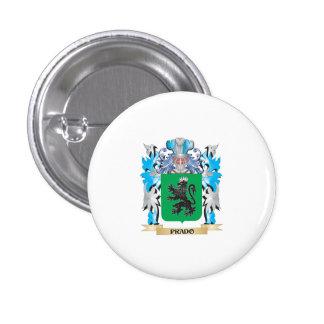 Escudo de armas de Prado - escudo de la familia Pin Redondo De 1 Pulgada