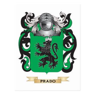 Escudo de armas de Prado (escudo de la familia) Tarjetas Postales