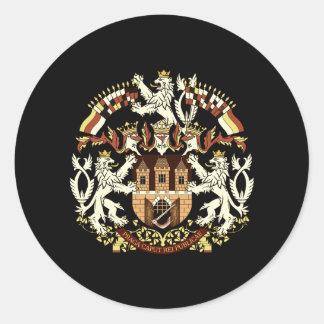 Escudo de armas de Praga Pegatina Redonda