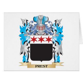 Escudo de armas de Prest - escudo de la familia Tarjeta De Felicitación Grande