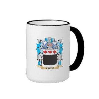 Escudo de armas de Prest - escudo de la familia Taza A Dos Colores