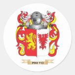 Escudo de armas de Preto (escudo de la familia) Etiqueta