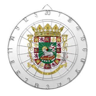 Escudo de armas de Puerto Rico Tabla Dardos
