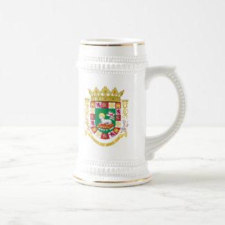 Escudo de armas de Puerto Rico Jarra De Cerveza