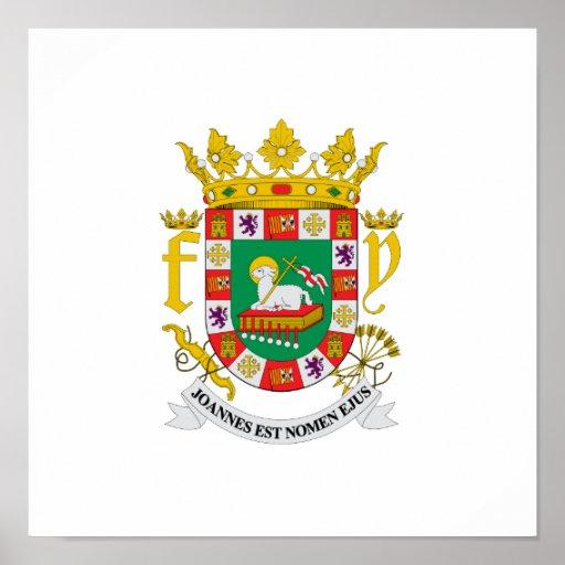 Escudo de armas de Puerto Rico Póster