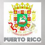 Escudo de armas de Puerto Rico Posters