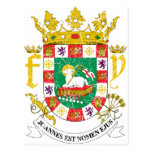 Escudo de armas de Puerto Rico Tarjetas Postales