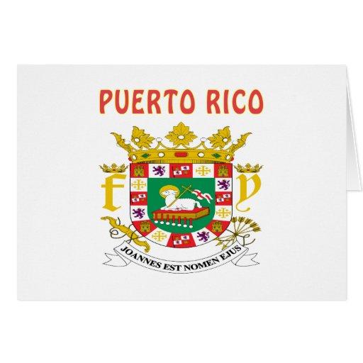 Escudo de armas de Puerto Rico Tarjetón