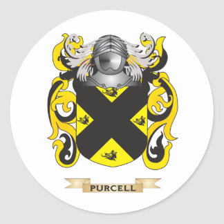 Escudo de armas de Purcell (escudo de la familia) Pegatina Redonda